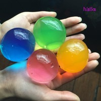20pcs/lot Pearl Shape 13-15mm Crystal Soil Mud Growing Up Magic Jelly Ball Wedding Home Decoration Hydrogel Water Beads SJ001