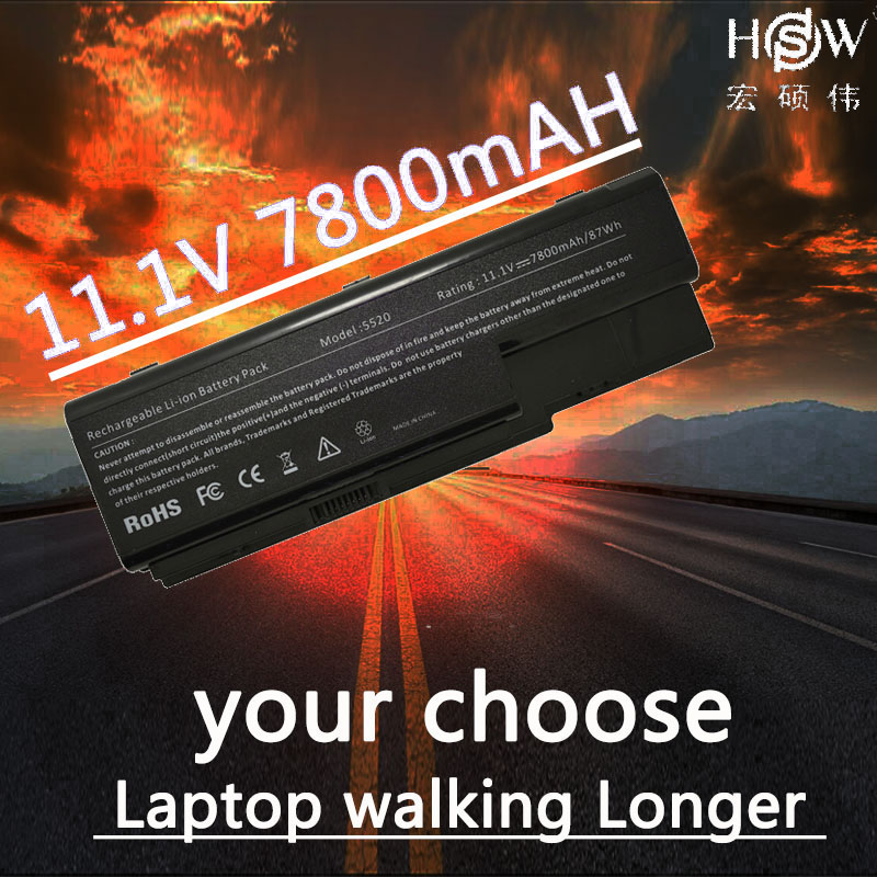 купить HSW 7800MAH laptop battery Replacing for acer Aspire 5910G 5920 5920G 5739G 5739 6530 6935 6920G 6930G 6930 6935G 7720Z Series по цене 1913.45 рублей