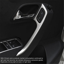 Free shipping New Stainless steel door armrests trim cover case For Volkswagen vw POLO 2011-2017 auto accessories car-styling