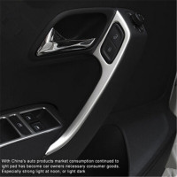 Free Shipping New Stainless Steel Door Armrests Trim Cover Case For Volkswagen Vw POLO 2011 2017