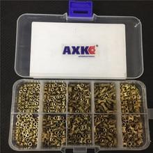 200/500 шт M2* L-3.5 M2.5* L-3.5 M3* L-4.2(наружный диаметр) Инъекции гайка Медь вставка с накаткой накатки наборы