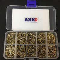 200/500 pièces M2 * L-3.5 M2.5 * L-3.5 M3 * L-4.2 (OD) écrou d'injection cuivre insérer écrous moletés Kit de moletage pour électrique