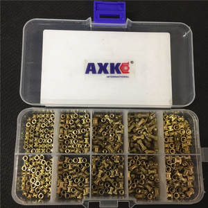 Injection-Nut Knurling-Kit Copper-Insert Electrical 200/500pcs OD for M2.5--L-3.5