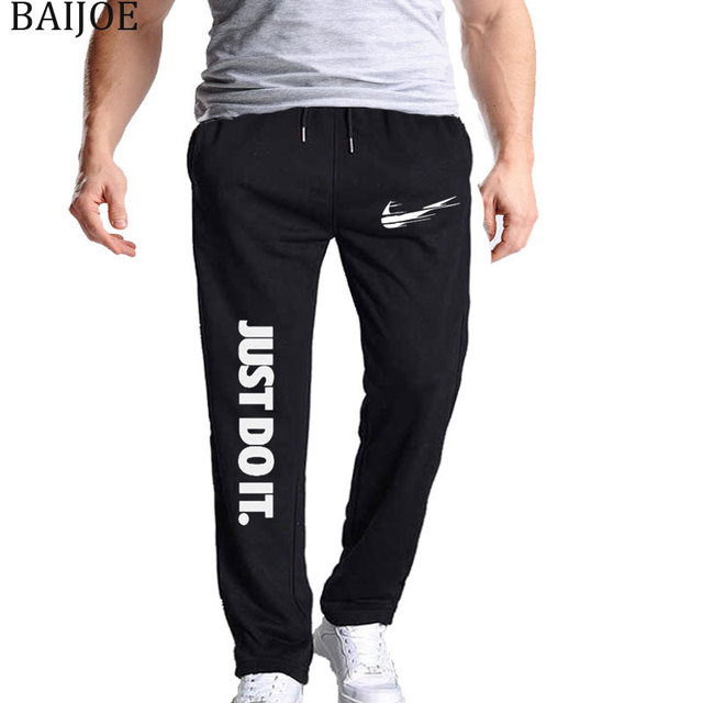 d25ae08fb94 BAIJOE Mens Joggers Casual Pants Fitness Men Sportswear Tracksuit Bottoms  Sweatpants Trousers Black Jogger Sweat Pants M-3XL
