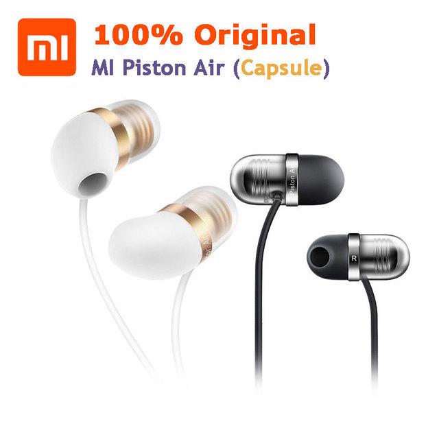 Cápsula original de xiaomi mi portátil de aire de pistón en la oreja tapones para los oídos de silicona auriculares w micrófono para iphone android teléfonos mp3