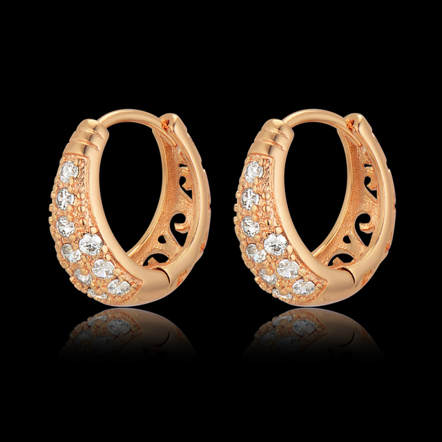 American Style Luxury Earrings For S Bijoux Brinco Gold Plated Small Hoop Valentine Gift