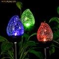 HUSUYUHU SISI Солнечный свет на открытом воздухе  стекло в форме пламени  двойные светодиодные садовые фонари  ландшафтные/дорожные огни для трае...