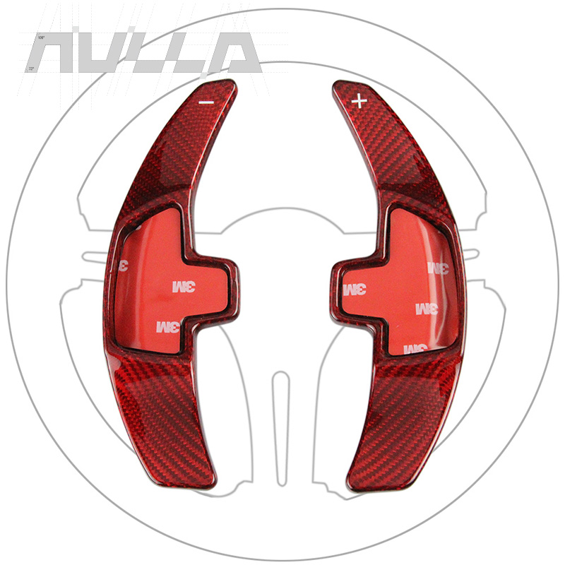 Type-C Red Look Carbon Steering Wheel Shift Paddle Extension Shifter Sticker For <font><b>Mercedes</b></font> Benz 2015 2016 E C S <font><b>W205</b></font> GLC Class image