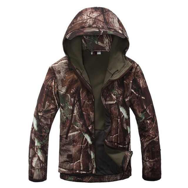 Chaqueta de marca V5.0 táctico militar de la chaqueta de los hombres, mirón de la piel de tiburón Soft Shell impermeable a prueba de viento de los hombres del ejército abrigo de chaqueta de lana