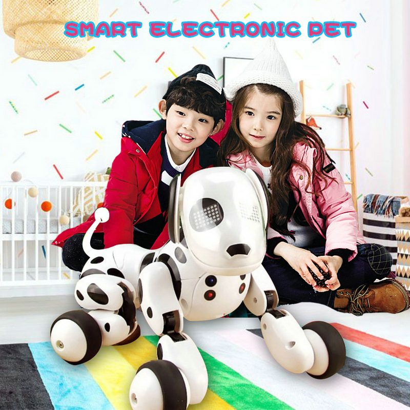 Intelligent machine toy dog 2.4G wireless remote control dog new puzzle electric dance programming dog smart dog Christmas Gifts dog