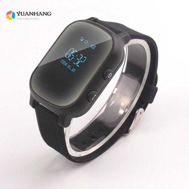 Oled Screen Black T58 Smart GPS LBS Tracker Locator Phone Watch for Kids Elder Child Student
