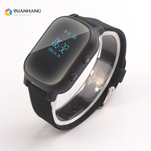 Oled Screen Black T58 Smart GPS LBS Tracker Locator Phone Watch for Kids Elder Child Student Smartwatch with SOS Remote Monitor