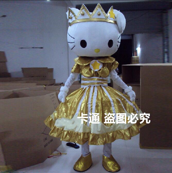 Costume de mascotte Kitty Costume de mascotte dessin animé Costume de caractère costume d'halloween