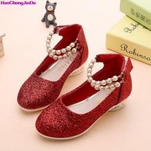 HaoChengJiaDe Children Girls Sandals Party Girls Soft High Heel Shoes Kids Pink Black Holiday School Fashion Princess Sandals