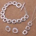 2016 precio de Fábrica de sistemas de la joyería de plata de ley 925 para las mujeres de plata pura moda elegent encanto joyería de la boda para las mujeres