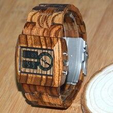BEWELL En Bois Hommes De Mode et Occasionnel Quartz Montre avec Double Mouvement Lumineux Affichage Reloj Hombre 021A