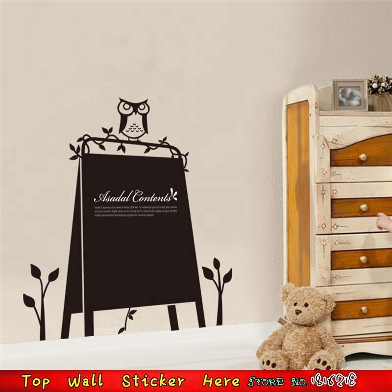 Memo Blackboard with Chalk Large Owl Chalkboard Message