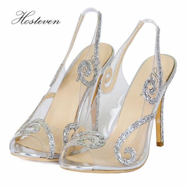 Hosteven New Arrival Hot selling Women's shoes Peep Toe Sweet Fashion Summer Sandals Thin Heel Pumps Princess Shoes Size 34-46