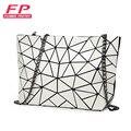 Новинка 2019, женская сумка на плечо с цепочкой, роскошные сумки с геометрическим рисунком, женские сумки, дизайнерская Маленькая женская сум...