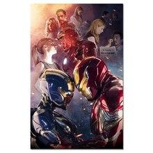 Tony And Pepper Potts Шелковый плакат супергерой ткань художественное произведение печать фильмов домашний декор для спальни бар Железный человек настенная художественная картина 40x60 см