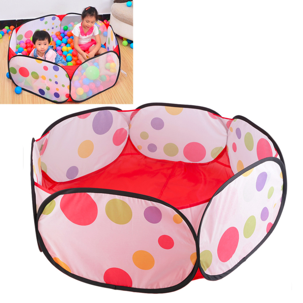 Baby Kids Play Tent Ball Pit Pool with Zippered Storage Bag outdoor Game Pool Baby Pets Playpen For Children Without balls
