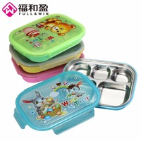 1Pcs Large Kids Lunch Tray Dishs Boxs Children Cute Tableware Lunchbox Portable Picnic Food Fruit Storage