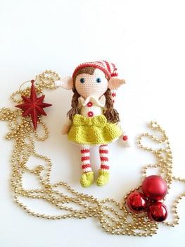 crochet toys  amigurumi  rattle berry elf   number  wp05