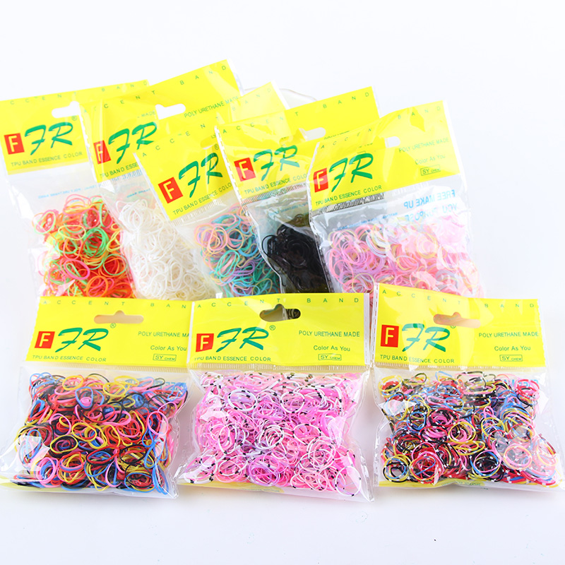 Wholesale 1000PCS/Lot Baby Girls Ponytail Holder Ring Elastic Hair Bands Disposable Rubber Bands Tie Gum Kids Hair Accessories 100pcs lot cute candy fluorescence kids girl elastic hair bands ponytail holder hair rubber band rope ties gum scrunchies
