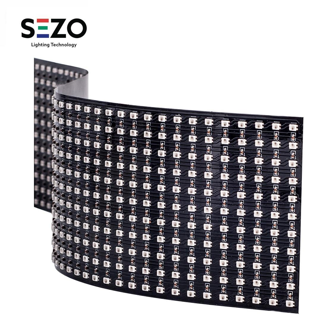 WS2812B Mini écran de panneau LED rgb Flexible numérique 2427 SMD 11x44/22x22 rêve complet ColorDigital adressable individuellement DC5V