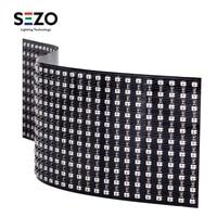 WS2812B Mini Digital Flexible RGB LED Panel Screen 2427 SMD 11x44 / 22x22 Full Dream ColorDigital Individually Addressable DC5V