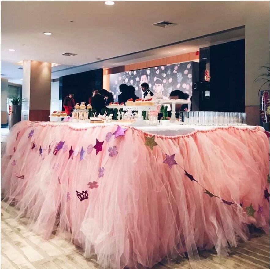 22mx15cm Wedding Table Runner Decoration Yarn Roll Crystal Tulle Organza Wedding Birthday Party Decorations Kids