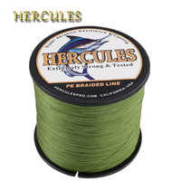 Hercules Fishing Line 8 Strands Multifilament 10-300LB PE Braided Line 100M 300M 500M 1000M 1500M 2000M Pesca Carp Fishing Cord
