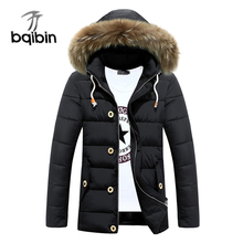 2017 Winter Men's Jackets Fur Collar Long Parkas Men Overcoats Thick Casual Hooded Male Coats Brand Clothing 3XL Plus Size
