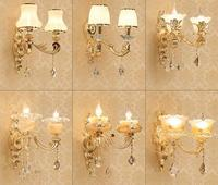 American country double bedroom wall lamp corridor wall lamp the sitting room porch stair. adornment crystal wall lamp peacock