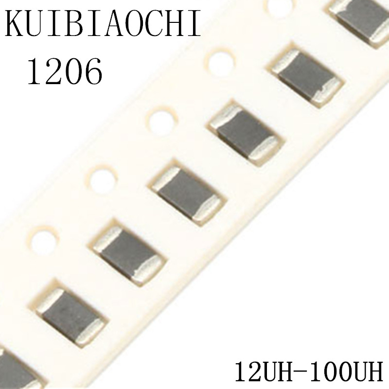 50pcs/lot 1206 SMD Chip Inductor 12uH 15uH 18uH 22uH 27unH 33uH 39uH 47uH 56uH 68uH 82uH 100uH конденсатор 50pcs lot smd tpsv687k006r0035 680 6 3vv avx