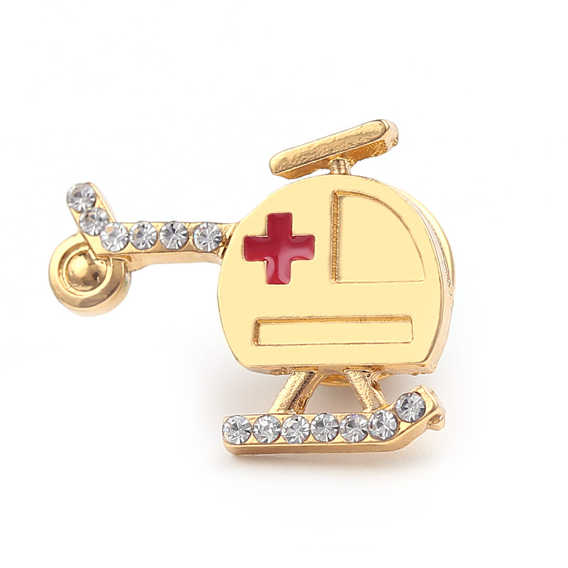 Wholesale Tiny Organ Brooch Medical Stethoscope Ambulance Enamel Lapel Pin for Doctors Nurse Coat Hat Badge Jewelry Statement