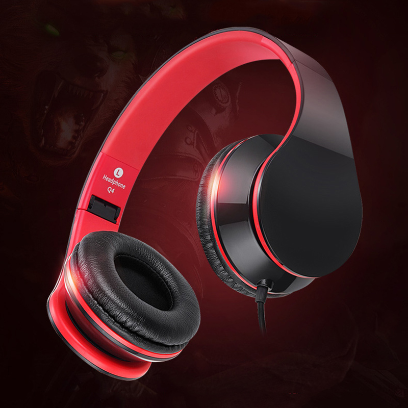 Actimarson Bass Gaming Headphone Portable Folding Music Game Headphones Sport Earbuds Headset Headband with Mic for PC Phone