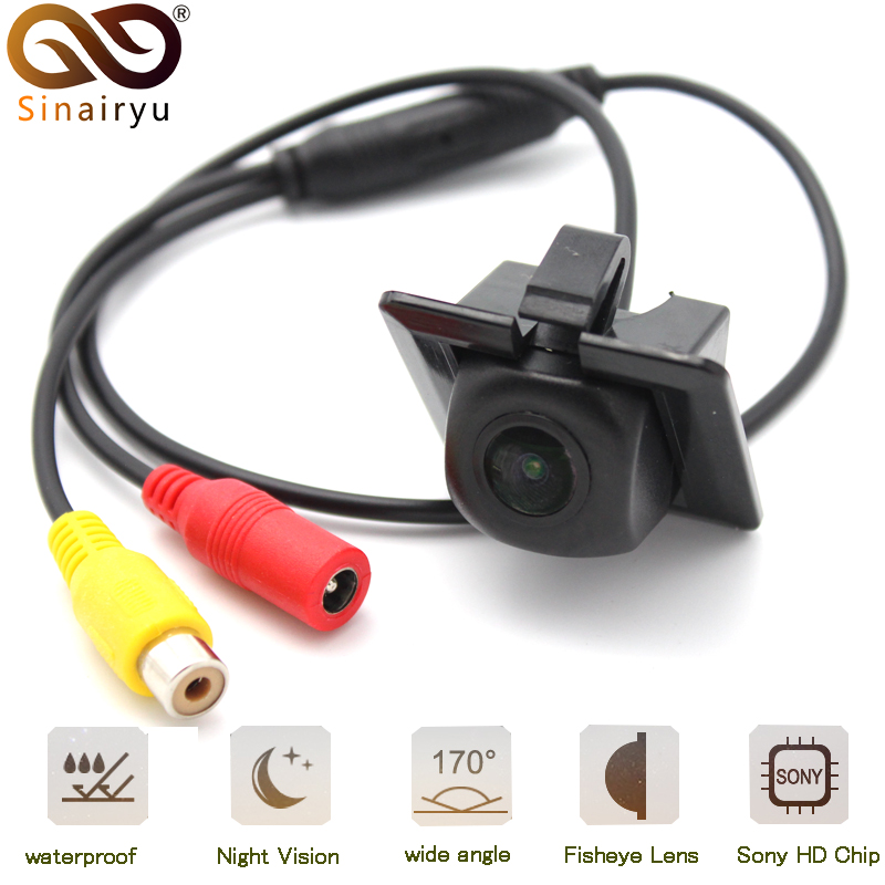 Sinairyu 170 Degree Sony MCCD Fisheye Lens Starlight Night Vision Camera Rear View Camera For Toyota Prado <font><b>150</b></font> <font><b>2010</b></font> image