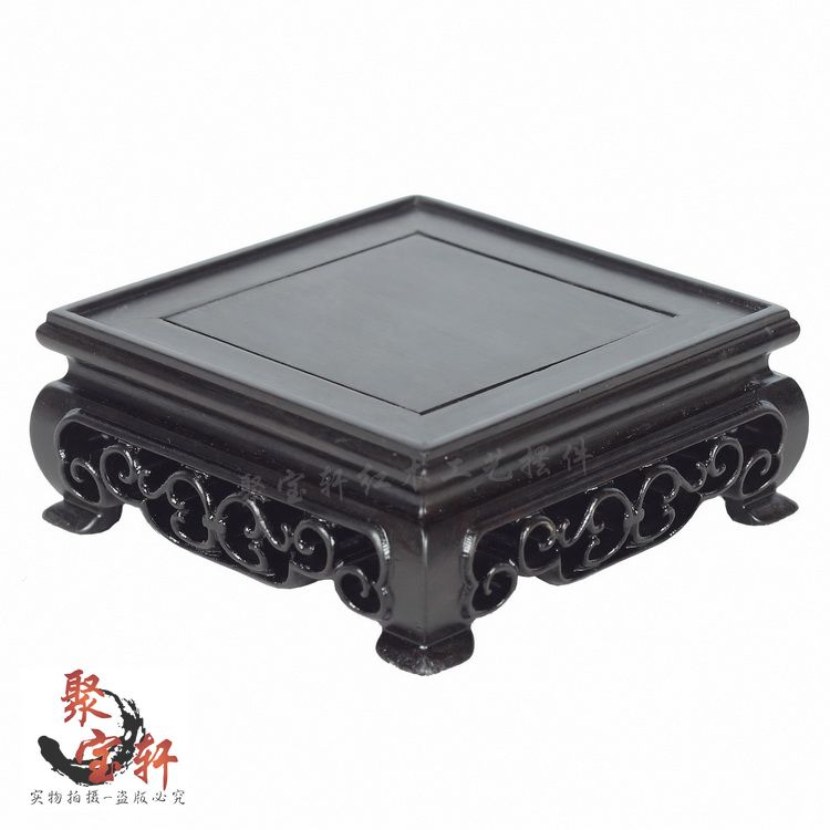 Square base ebony wood carving handicraft furnishing articles household act the role ofing is tasted the vase