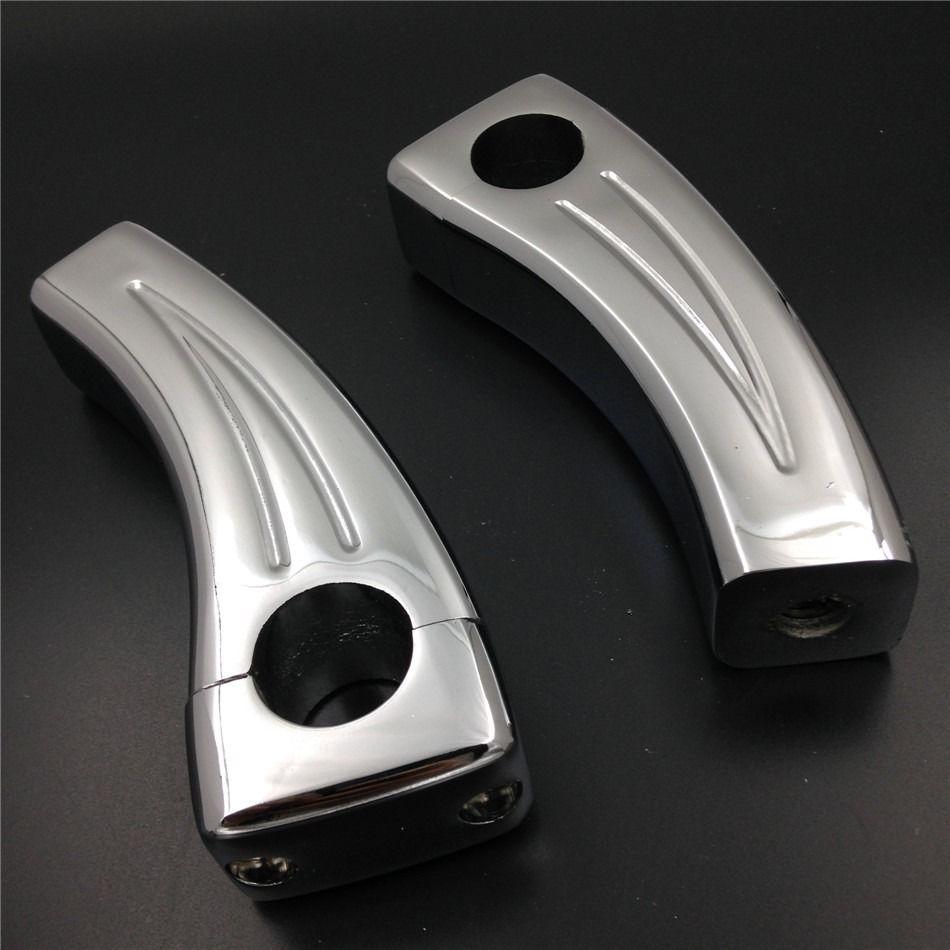 Brand new 100% 5.5 Height Chrome handlebar risers For Honda VTX Yamaha V-Star Kawasaki Vulcan 900 brand new 100% 5 height chrome round handlebar risers for honda vtx yamaha v star kawasaki vulcan 900 new