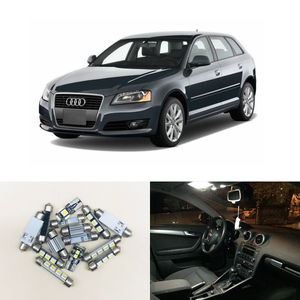 Image 1 - 12PCs CAN bus Error Free White Led Interior Light Kit Package Replace Bulbs For Audi A3 8P Accessories 04 13 Car Styling