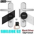 Серебряный/черный Шерлок S2 Смарт-стик замок электронный дверной замок Bluetooth беспроволочный открыть или закрыть дверь Работа Смарт-приложен...