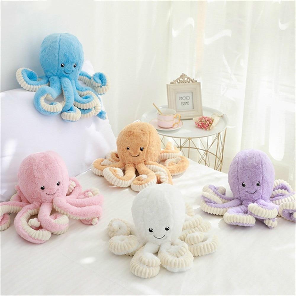 New Cute 18cm Creative Octopus Plush Toys Octopus Dolls Stuffed Toys Plush Small Pendant Sea Animal Toys Children Baby Gifts