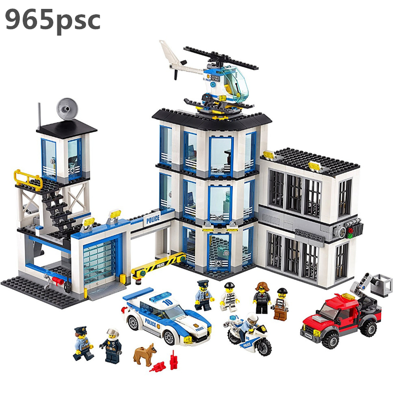 City Series Police Station Building Blocks Set Bricks Kids for Children Model Kids Toys Marvel Compatible hobbies Legoings 6014z толстовка серая с принтом karl lagerfeld kids ут 00019201