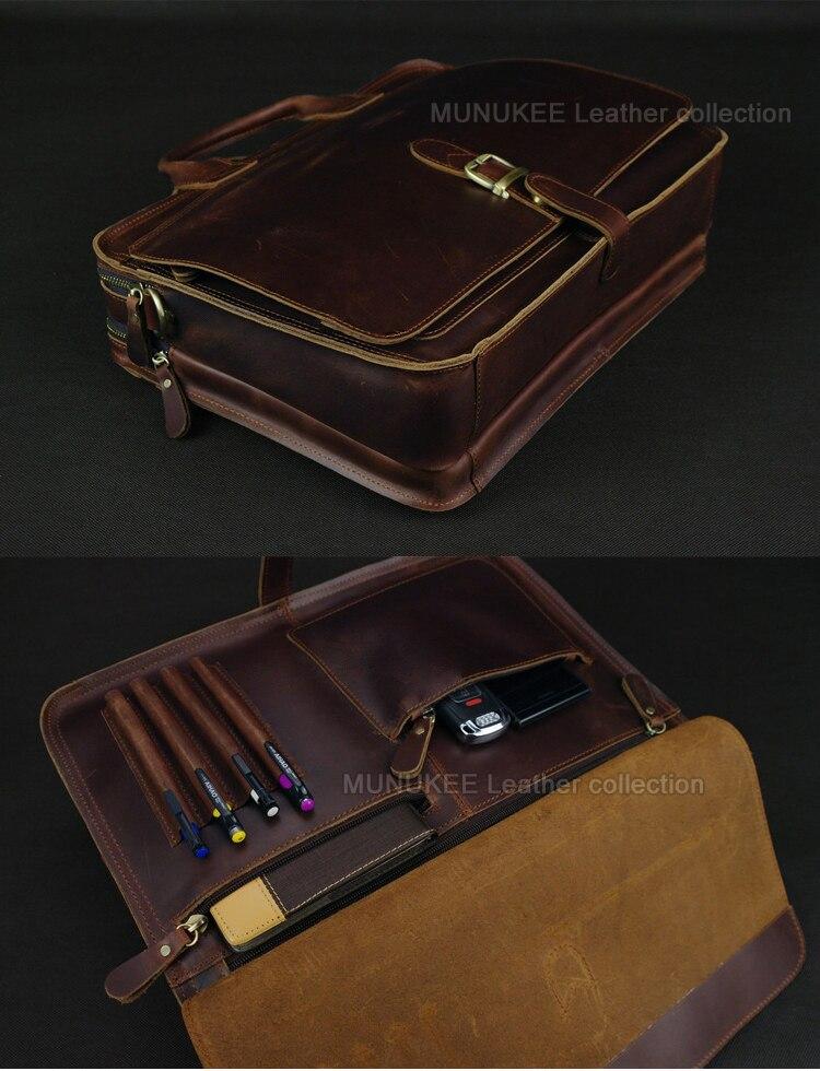 Luksuzna torba za laptop od prave kože za muškarce Laptop torba od - Aktovke - Foto 5