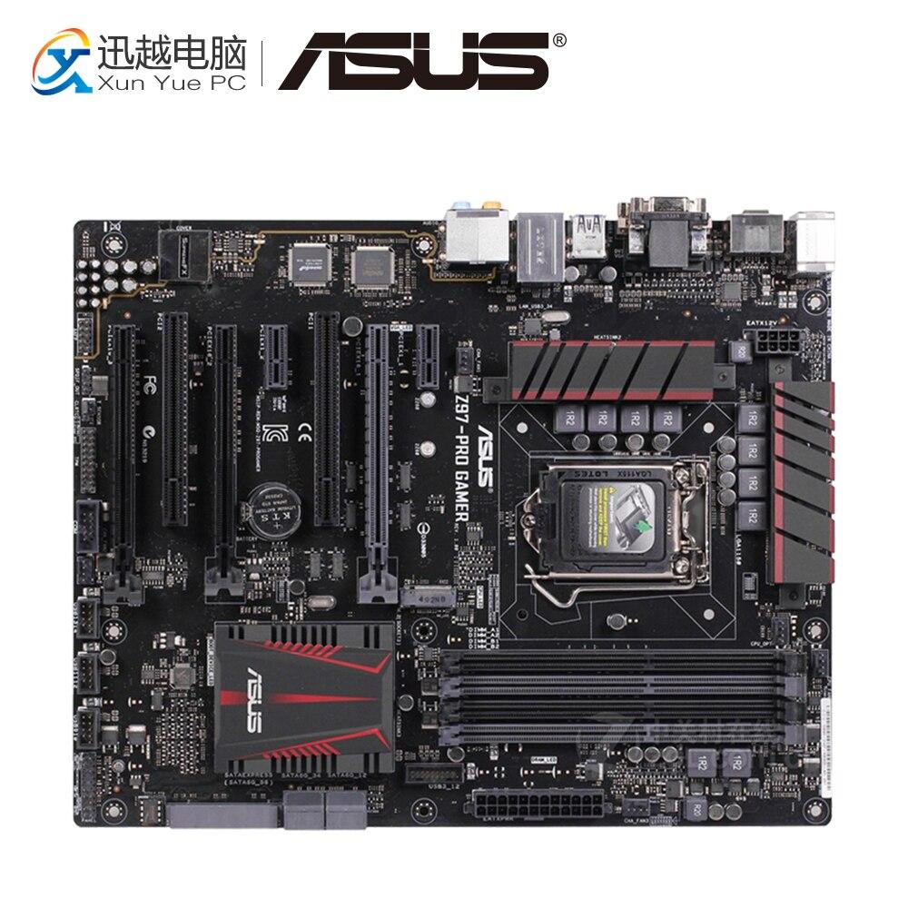 Asus Z97-PRO GAMER Desktop Motherboard Z97 Socket LGA 1150 i7 i5 i3 DDR3 32G SATA3 USB3.0 ATX asus z97 a usb3 1 original used desktop motherboard z97 a usb3 1 z97 socket lga 1150 i7 i5 i3 ddr3 32g sata3 usb3 0 atx