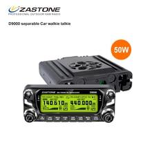 Zastone D9000 50 Вт автомобиля Двухканальные рации 50 км автомобиля Радио передатчик УКВ 136-174 и 400-520 мГц КВ трансивер 50 км Communicator