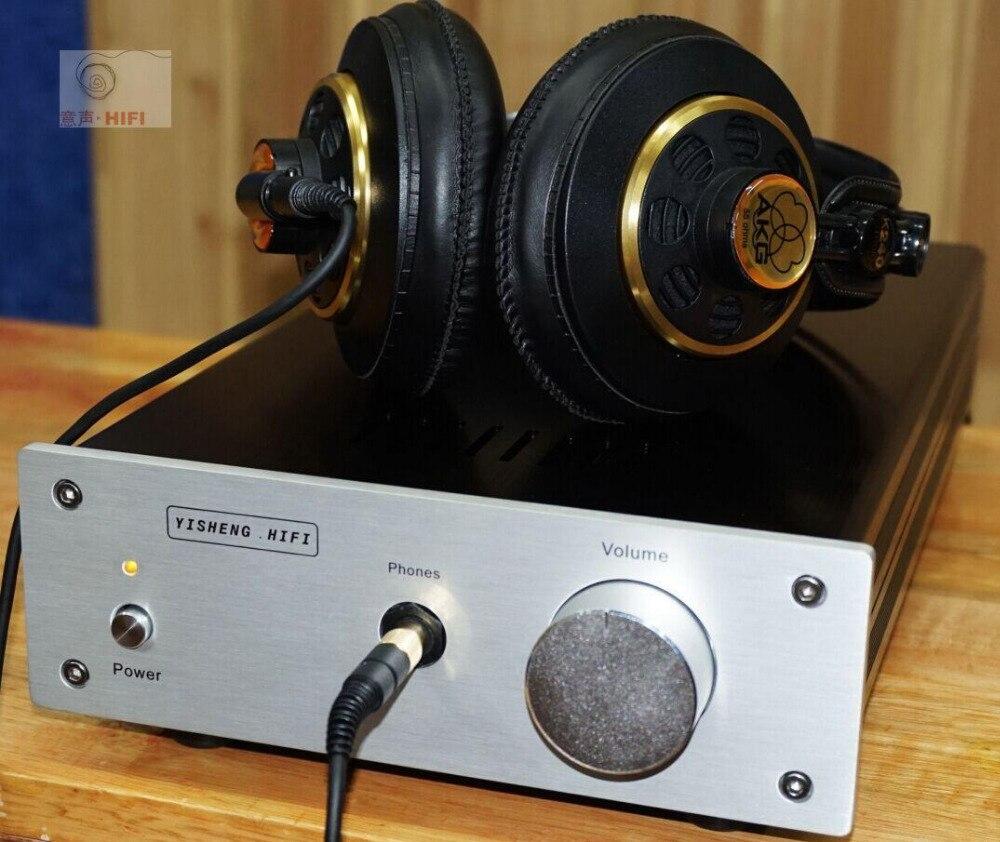 Single-ended Class A headphone amplifier Ref Pass Zen Push 32-300 ohm headset / 3W Class A amplifier douk audio pass zen single ended class a headphone amp hifi amplifier board
