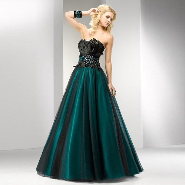 44db4d70378d New Fashion Piume Verdi Vestiti Da Sera Lunghi Amazon Vestito Convenzionale  Kate Middleton Teal Abito di