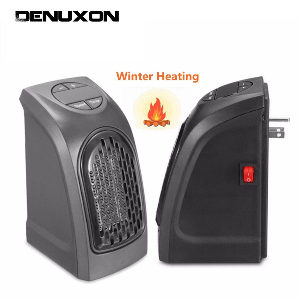DENUXON Portable Wall Outlet Mini Electric Handy Heater Stove Warm Air Hand Warmer Radiator Fan 350W